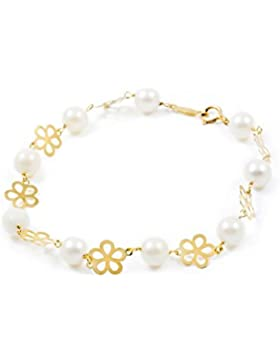 Kinder Armband perlen Gelbgold 18 Karats (750)