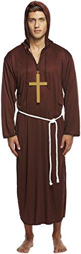 Mönch Hochwertige Robe (Mönch-Kostüm - Ordensbruder - für)