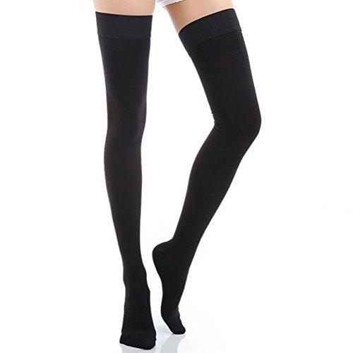 Fletion Damen Winter Kompression Strümpfe Warme Legwarmers Kniestrümpfe Länge Leggings Socken Over knee Stockings 20-30mmHg