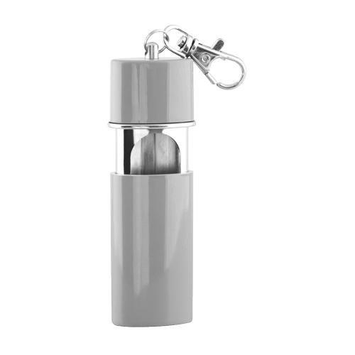 M&m mm 15848posacenere tascabile-pocket ashtray acciaio, argento, 9x 4x 2cm