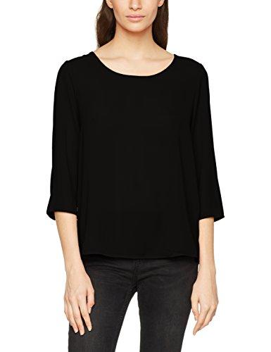 ONLY Damen Bluse Onlvic 3/4 Solid Top Noos WVN, Schwarz (Black), X-Large (Herstellergröße: 42)