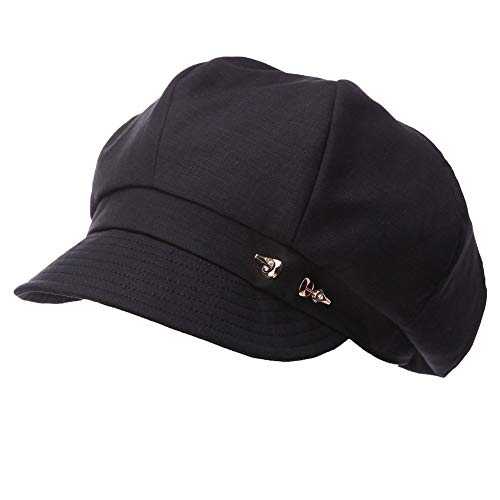 SIGGI Damen 8-Panel Schirmmütze Cabbie Maler Mütze 56-59CM schwarz