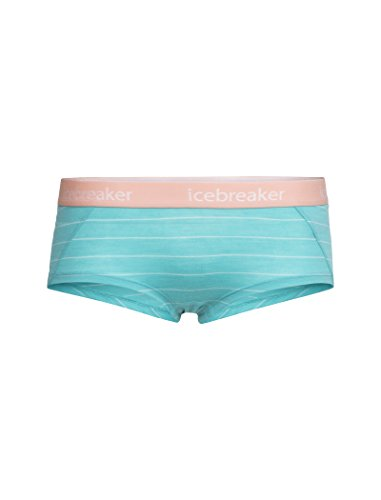 Icebreaker Sprite Hot Pantalon Femme Lagoon/Dew/Stripe