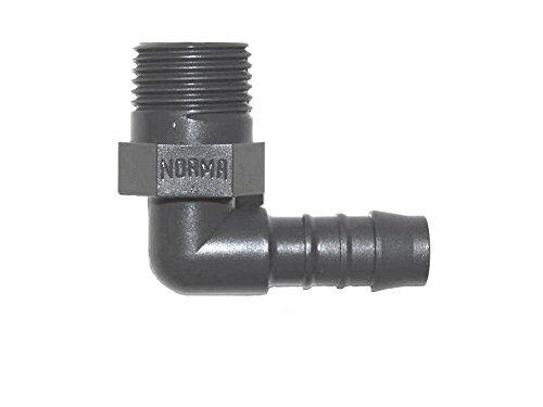 Original NORMA NORMAPLAST® SV Winkel Einschraubstutzen Einschraubverbinder (Schlauchinnen Ø 8 mm Gewinde 1/4 Zoll)