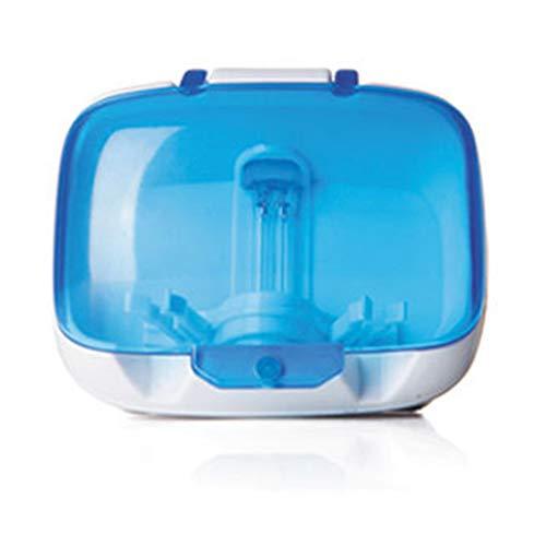 Ainstsk Esterilizador de cepillos de Dientes, Montaje en la Pared, UV, luz de Cepillo, esterilizador, Limpiador Limpiador, Soporte portátil de Suministros de baño para baño