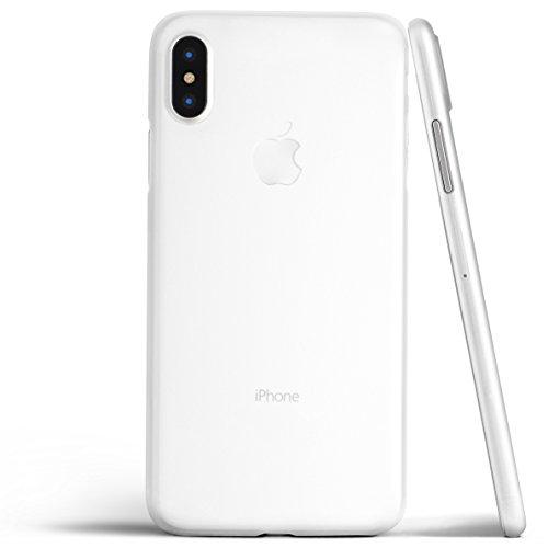 totallee iPhone X Hülle, Dünnste Hülle Premium Ultradünn Leicht Schmal Minimal Anti-Kratz Schutz Case - Für Apple iPhone X (Weiss)