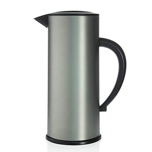 WLHW Trinkflaschen Thermoskannen, Haushaltsglas Liner Teekanne Große Kapazität Langzeit Isolationsschloss Kaltwasserflasche 1.7L S7 (Farbe : Gray)