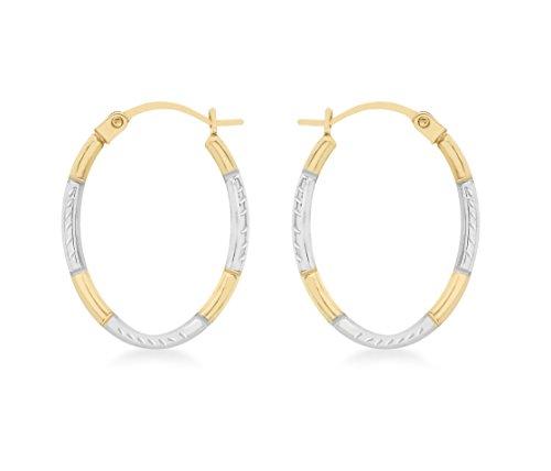 carissima-gold-9ct-2-colour-gold-diamond-cut-oval-creole-earrings