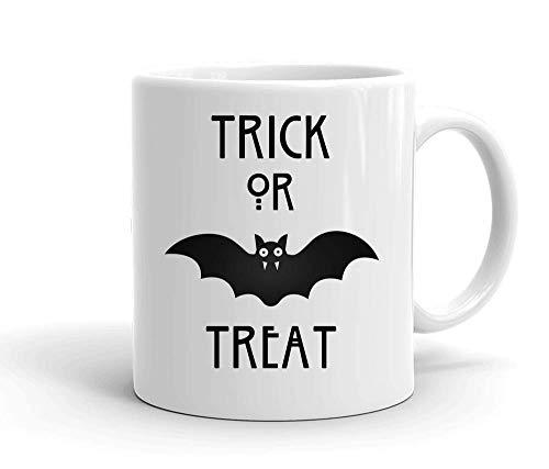 Treat Awesome Bat Weißer Keramik-Becher für Tee und Kaffee ()