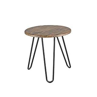 Aspect Brockton Round Side Table, Wood, Vintage 1, 45 x 45 x 45 cm
