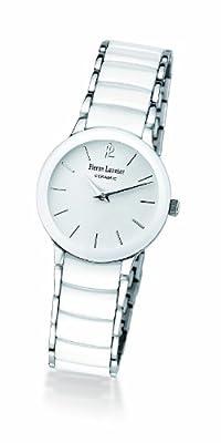 Pierre Lannier 006K900 - Reloj analógico de cuarzo para mujer, correa de cerámica color blanco de Pierre Lannier