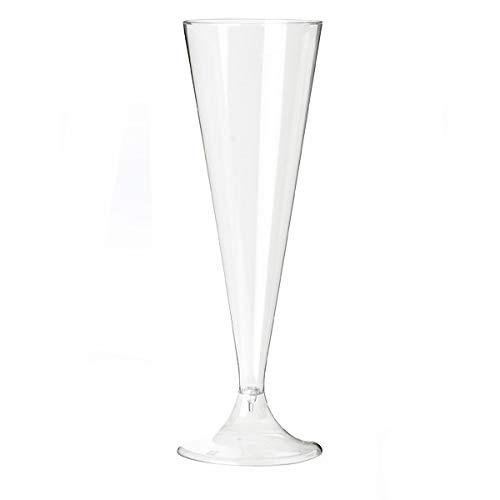 20 flûtes à champagne design jetables plastique