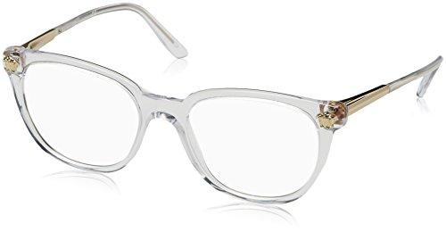 Versace - GLAM MEDUSA VE 3242, Rechteckig, Acetat, Damenbrillen, CRYSTAL(148), 52/18/140
