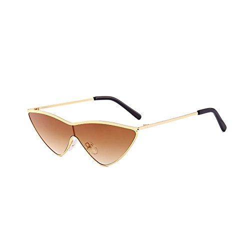 SUNGLASSES Europäische und amerikanische Neue Sonnenbrille Flut Dreieck Katze Brille Sonnenbrille Männer und Frauen (Farbe : Gradient Tea)