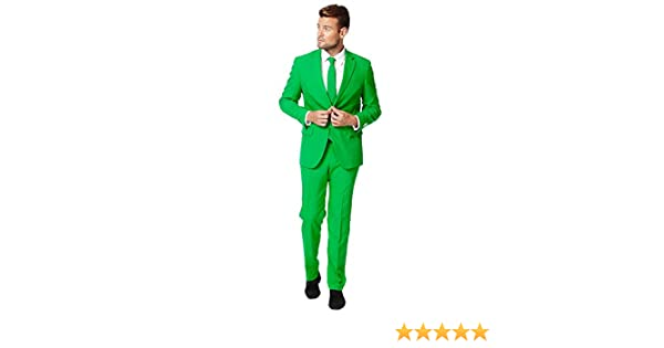 Jacket And Tie opposuits Evergreen Solid Green Suit for Men Coming with Pants