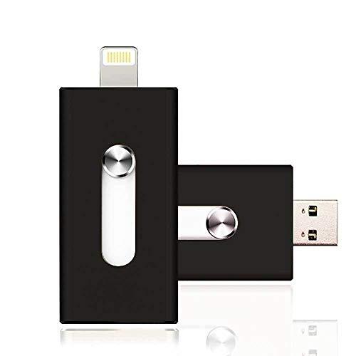 USB-Stick kompatibel mit iPhone und iPad 32GB 32GB 64GB Apple MFI schwarz Schwarz 64 gb