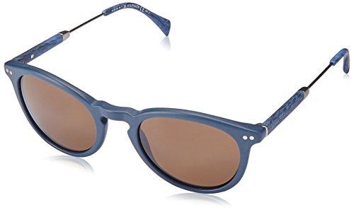 Tommy hilfiger th 1198/s ec t8l, occhiali da sole unisex-adulto, blu (bluette mtruth/brown), 51