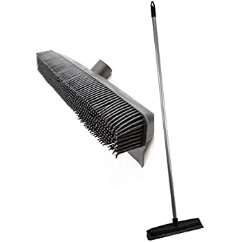 Push Broom Long Handle Rubber Bristles Sweeper Squeegee