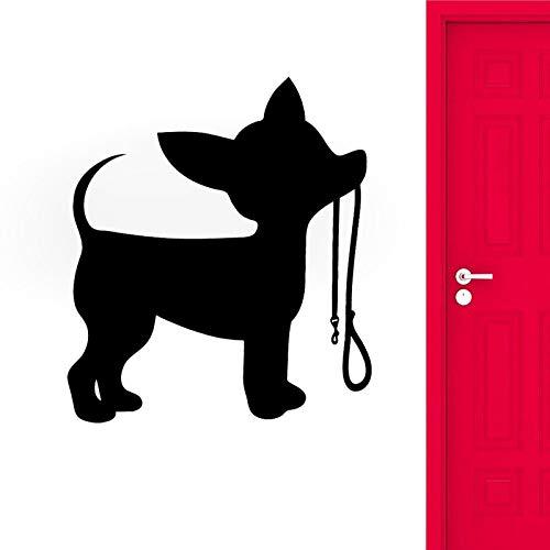 48,4 CM * 55 CM Cartoon Spaß Silhouette Kleiner Hund PVC Wandaufkleber Abziehbild Dekor Für Wohnzimmer