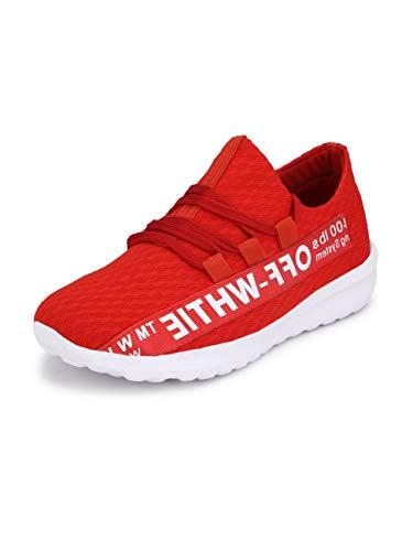 FENTACIA Men Off White Series Running/Jogging Shoes with Memory Foam,Grafitti Shoe, Colors and Big (UK6-UK12)