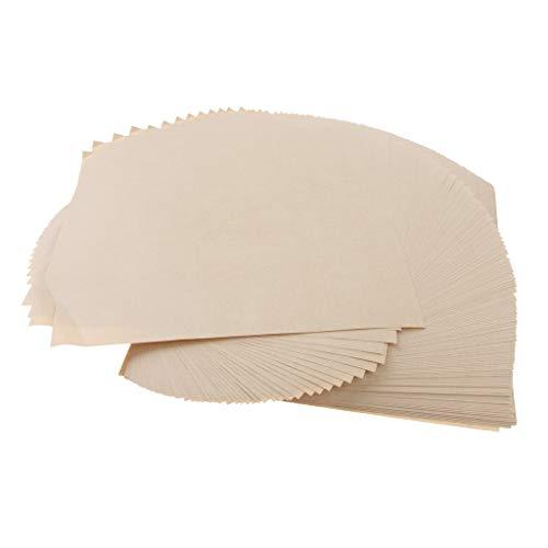 Baoblaze Pack von 200 Stück Natural Kraftpapier Essen Verpackungspapier für Bäckerei Backen Snack Fried Food Serving - Naturfarbe 19 x 19 cm