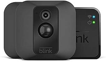 Sistema di telecamere per la sicurezza domestica Blink XT, con rilevatore di movimento, supporto da parete, video in HD, batterie con una durata di 2 anni e archiviazione sul cloud - Sistema a 2 telecamere