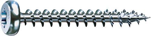 SPAX Universalschraube, 4,0 x 40 mm, 200 Stück, T-STAR plus, Halbrundkopf, Vollgewinde, 4CUT, WIROX A9J, 0201010400403 - 4 X 12 Holz