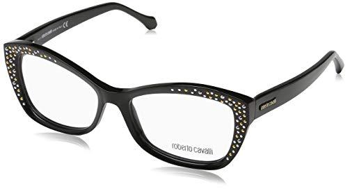Roberto Cavalli Damen Brille RC5037 A01 54 Brillengestelle, Schwarz,