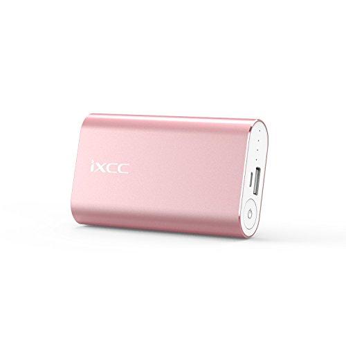 Powerbank Tragbares 5200mAh,iXCC Slim Externer Ladegerät Power Bank für iPhone, iPad, Samsung Galaxy, LG, Huawei HTC, Xiaomi, Alle anderen Smartphones und Tablets - Rosa