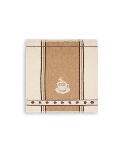 Frottiertuch Espresso , beige, KRACHT, Format 50/50, 100% Baumwolle