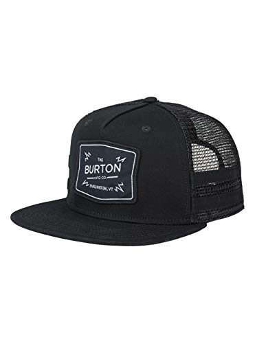 Burton Herren BAYONETTE Snapback Kappe, True Black, One Size Twill Mesh Back Cap