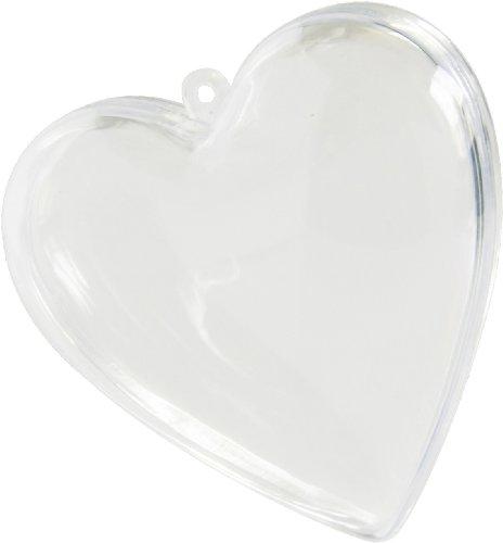 Herz transparent ca. 8cm zum befüllen für Hochzeit 50 Stück Dekoration Palandi
