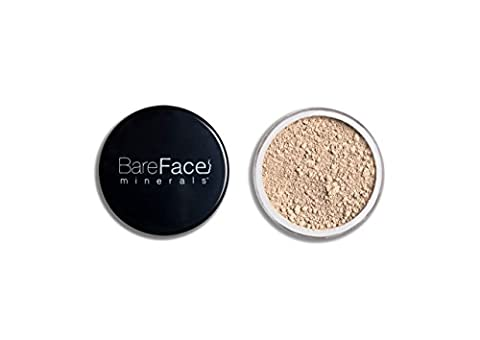 Bare Face Minerals Full Coverage Mineral Foundation | Long Lasting | Oil Free Loose Powder Foundation | Rosacea Burns Freckles Acne Makeup Solutions | 8g NET