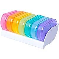 SUPVOX 7 Tage Tablettenbox Pillenbox Pillendose Medikamentendosierer Tablettendose Wochendosierer 7 Stück preisvergleich bei billige-tabletten.eu