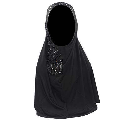 ZEELIY Frauen Mode New Spitze Viskose Schal Muslimische Hijab Instant Convenient Schal Kopf tragen Schal Turban Stirnband