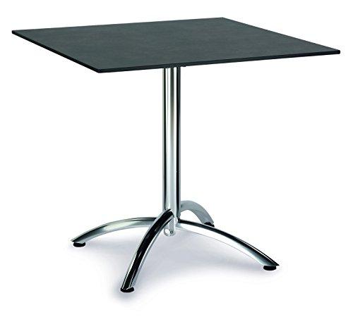 Best Firenze Table Pliante rectangulaire Argenté/Ardesia, 80 x 80 x 73 cm, 43558885