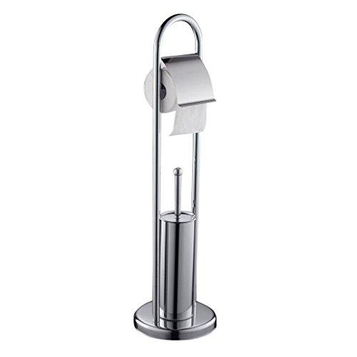Auralum® Edelstahl Toilettenpapierhalter Klobürste Garnitur Rollenhalter Bürstengarnitur
