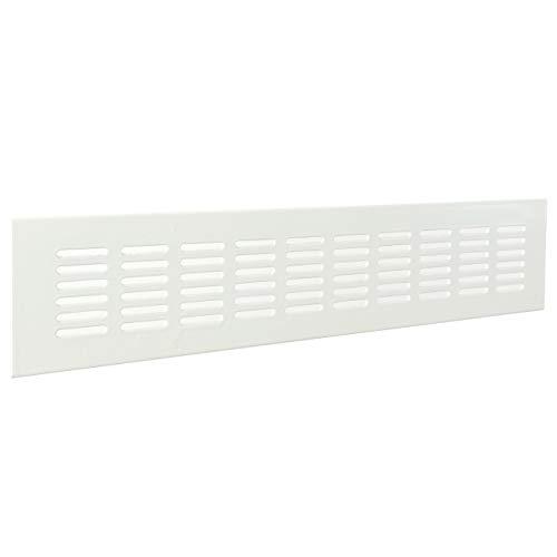 La Ventilazione GF286B Griglia Rettangolare da Incasso, Alluminio Verniciato 280x60 mm, Bianco
