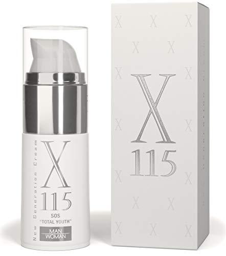 X115 Anti Falten Creme Gesicht für Männer, Hyaluronsäure, Vitamin C, Kollagen, 1er Pack (1 x 15 ml)