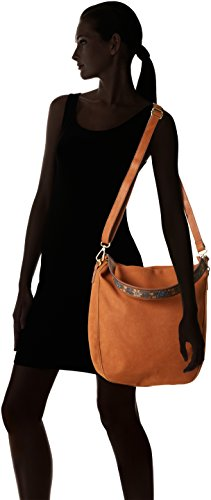edc by Esprit - 087ca1o002, Borse a spalla Donna Marrone (Rust Brown)