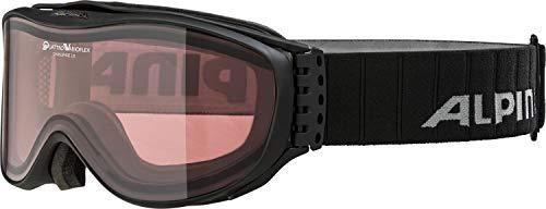 ALPINA Challenge 2.0 Skibrille, Black Matt, One Size