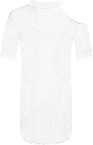 Islander Fashions - Robe - Asymétrique - Femme Blanc