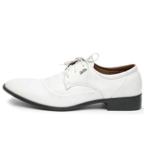 Herren Oxford Business Schuhe Schwarz Weiß Leder Lace Up Spitzen Leder Flache Hochzeitsschuhe Arbeitsschuhe -