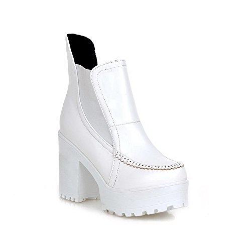 AdeeSu - Plataforma mujer , color blanco, talla 1 UK