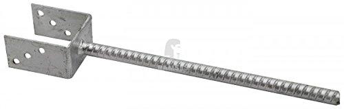 Pfostenträger U-Form 121 x 400 mm Stahl verzinkt