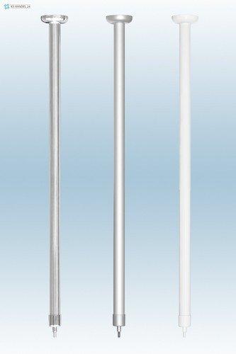SK Aluminium deckenh vieillissement Extra Longue 120 cm. Pour barre de douche tringle d'angle pour rideau de douche Blanc Barrière sans. Under seiling of Corner Rod.