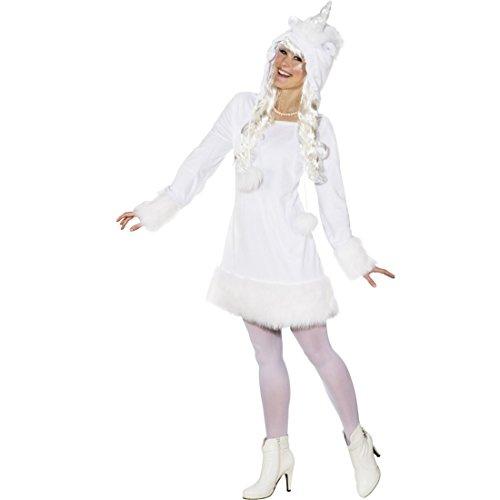 Einhorn Kostüm Damen Einhornkleid 46/48 (L/XL) Faschingskostüm Unicorn Damenkleid (Kostüme Einhorn Erwachsene Fantasy)