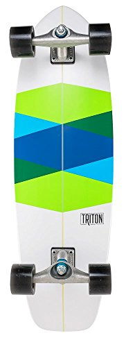 Carver–Triton 82,5cm grün Glas Komplett Surf Skate Board–CX (Carver Komplett Skateboard)