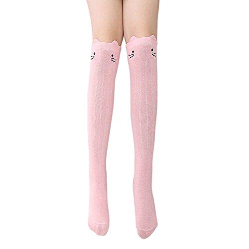 eble 1 Paar Baumwolle Kniestrümpfe Tier Katze Socken Bottom Socken 3-12 Jahre (3t Tier Halloween Kostüme)