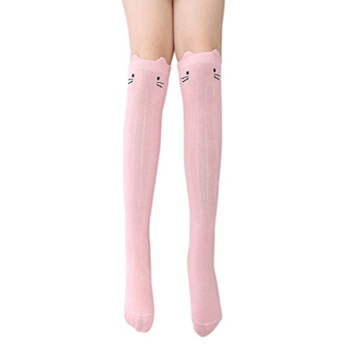 Mädchen Socken, Loveble 1 Paar Baumwolle Kniestrümpfe Tier Katze Socken Bottom Socken 3-12 Jahre (3t Tier Halloween Kostüme)